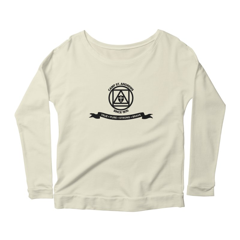 CSA Emblem (black) Women's Scoop Neck Longsleeve T-Shirt by Camp St. Andrews