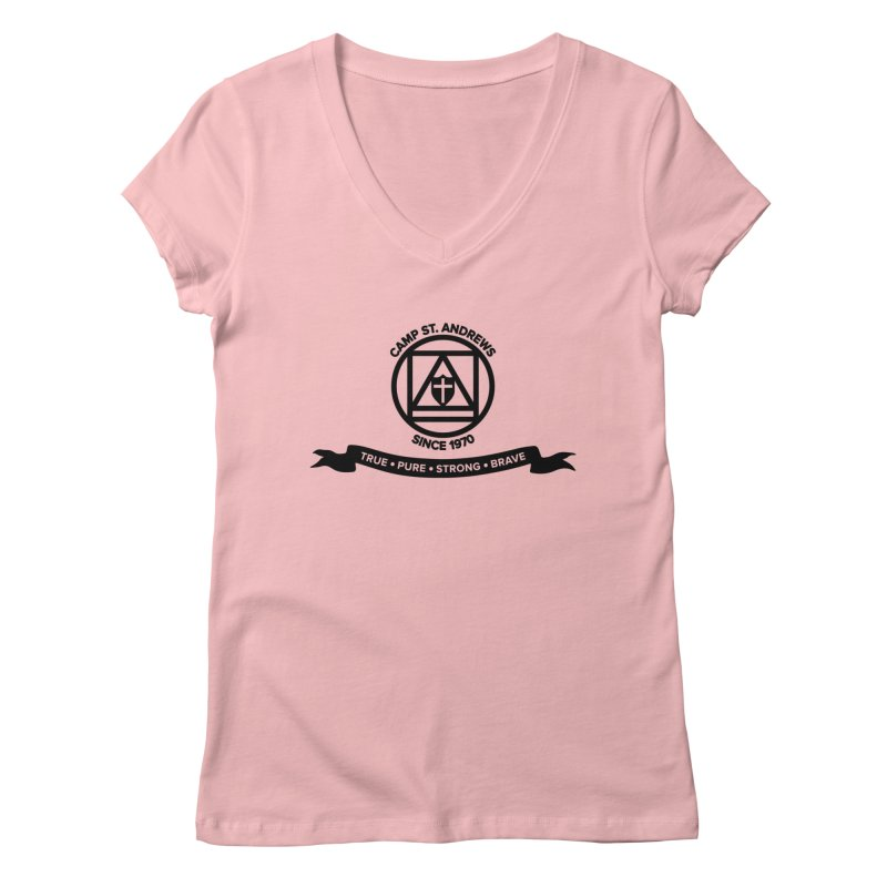 CSA Emblem (black) Women's Regular V-Neck by Camp St. Andrews
