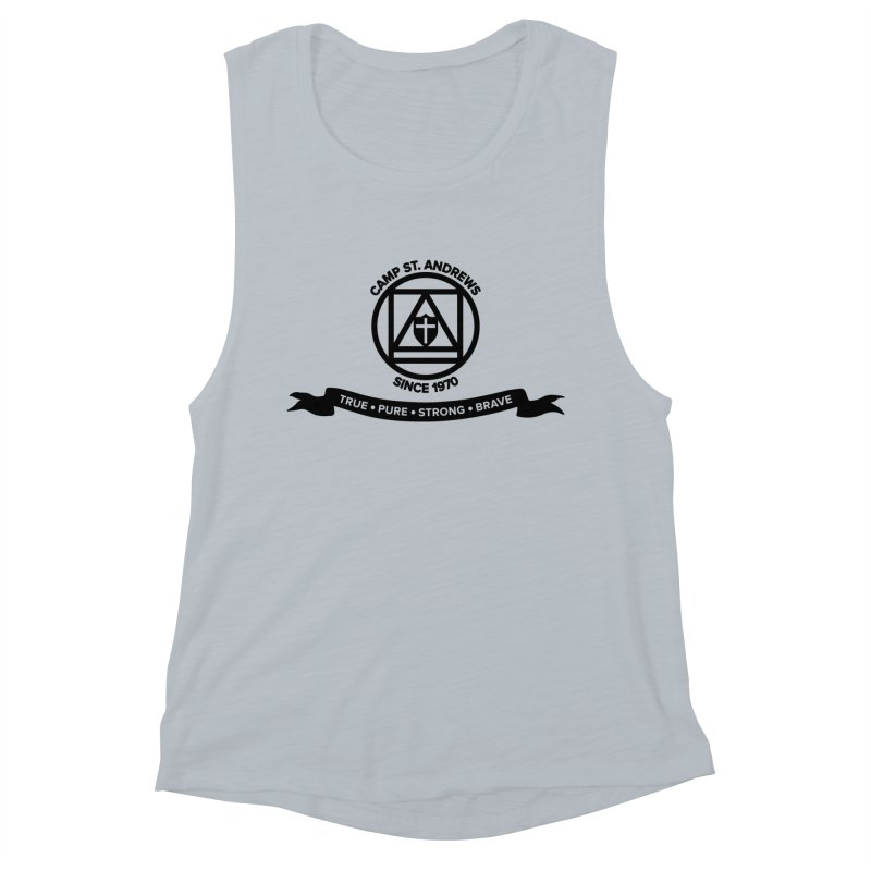 CSA Emblem (black) Women's Muscle Tank by Camp St. Andrews
