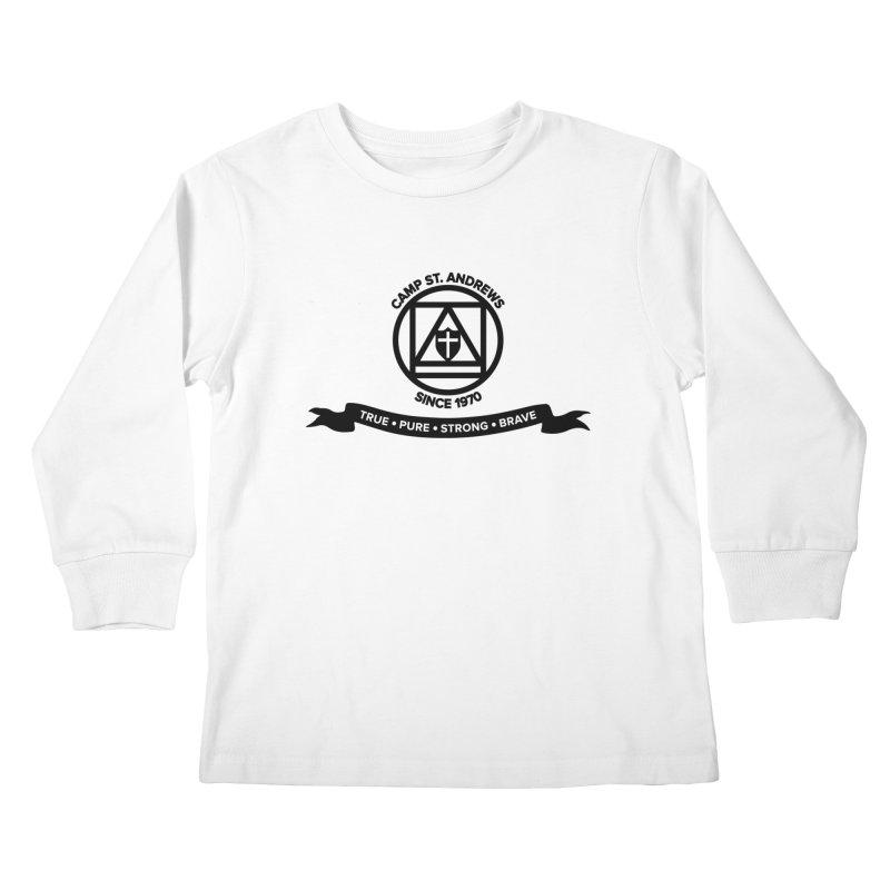 CSA Emblem (black) Kids Longsleeve T-Shirt by Camp St. Andrews