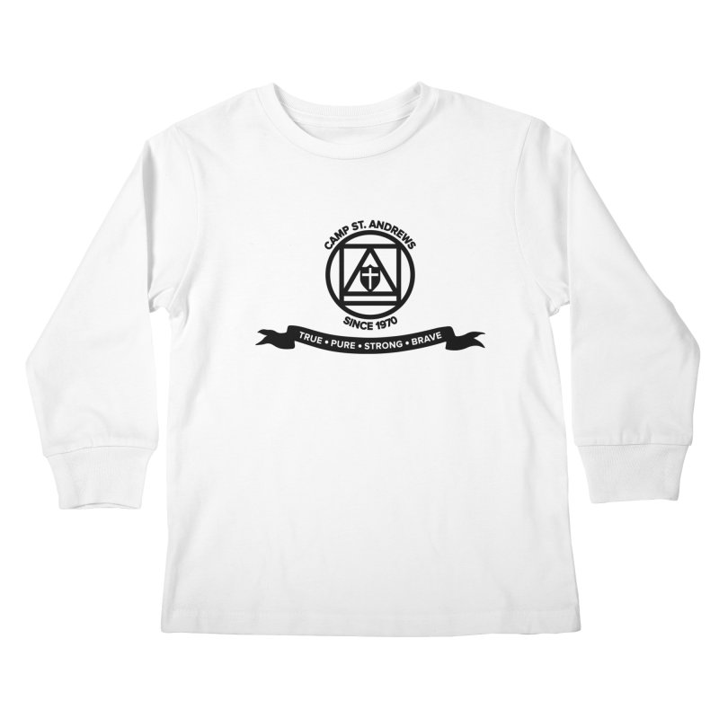 CSA Emblem (black) Kids Longsleeve T-Shirt by Camp St. Andrews