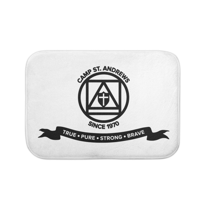 CSA Emblem (black) Home Bath Mat by Camp St. Andrews
