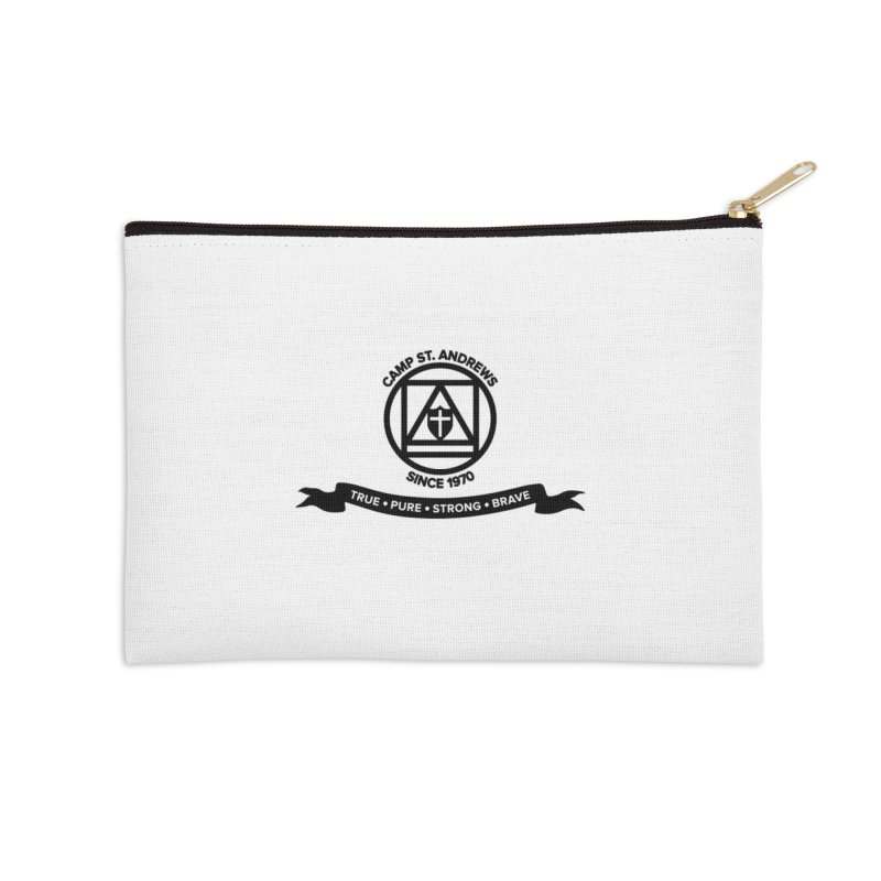 CSA Emblem (black) Accessories Zip Pouch by Camp St. Andrews