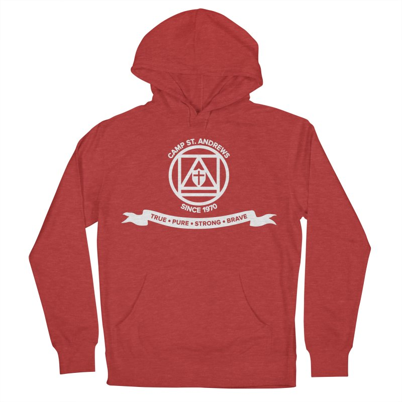 CSA Emblem (white) Men's French Terry Pullover Hoody by Camp St. Andrews