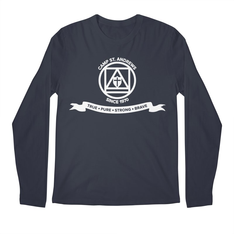 CSA Emblem (white) Men's Longsleeve T-Shirt by Camp St. Andrews