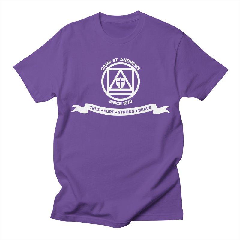 CSA Emblem (white) Men's Regular T-Shirt by Camp St. Andrews
