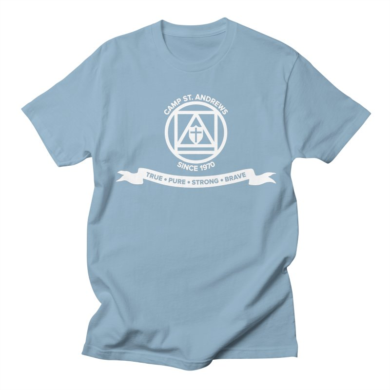 CSA Emblem (white) Men's T-Shirt by Camp St. Andrews