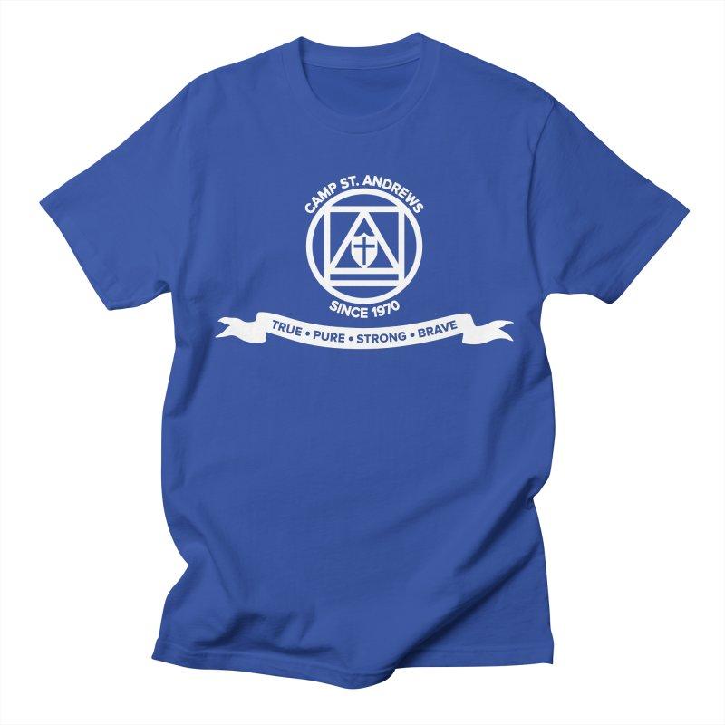 CSA Emblem (white) Men's T-shirt by Camp St. Andrews
