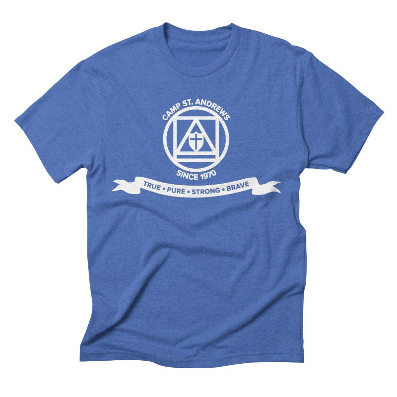 CSA Emblem (white) Men's Triblend T-shirt by Camp St. Andrews