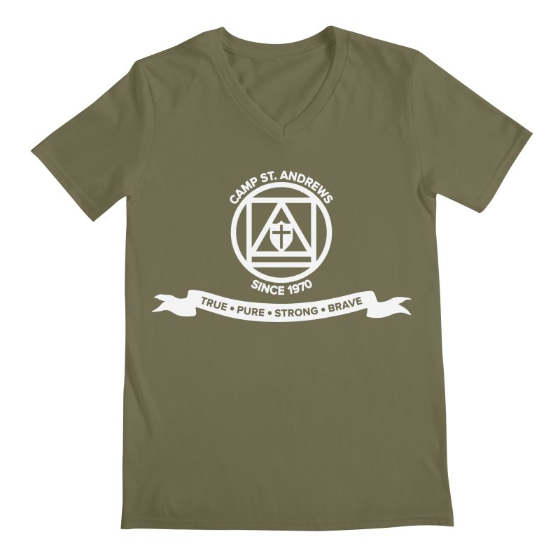 CSA Emblem (white) Men's Regular V-Neck by Camp St. Andrews