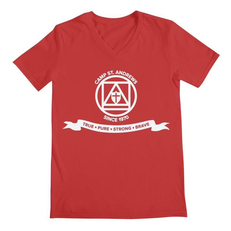 CSA Emblem (white) Men's V-Neck by Camp St. Andrews