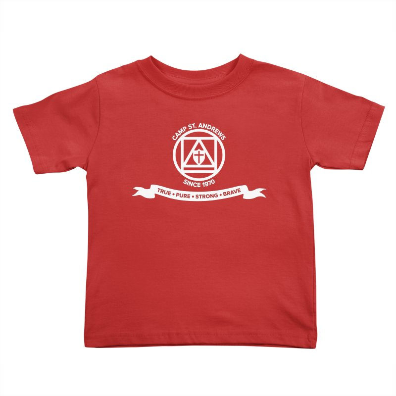 CSA Emblem (white) Kids Toddler T-Shirt by Camp St. Andrews