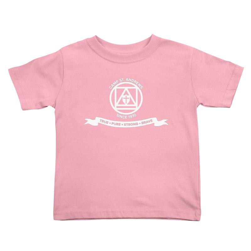 CSA Emblem (white) Kids Toddler T-Shirt by Camp St. Andrews