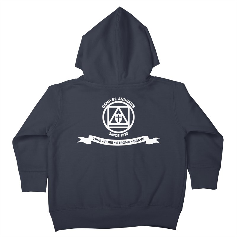 CSA Emblem (white) Kids Toddler Zip-Up Hoody by Camp St. Andrews