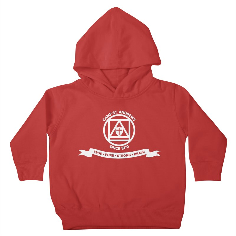 CSA Emblem (white) Kids Toddler Pullover Hoody by Camp St. Andrews