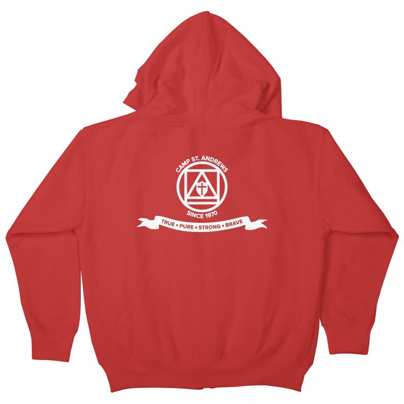 CSA Emblem (white) Kids Zip-Up Hoody by Camp St. Andrews