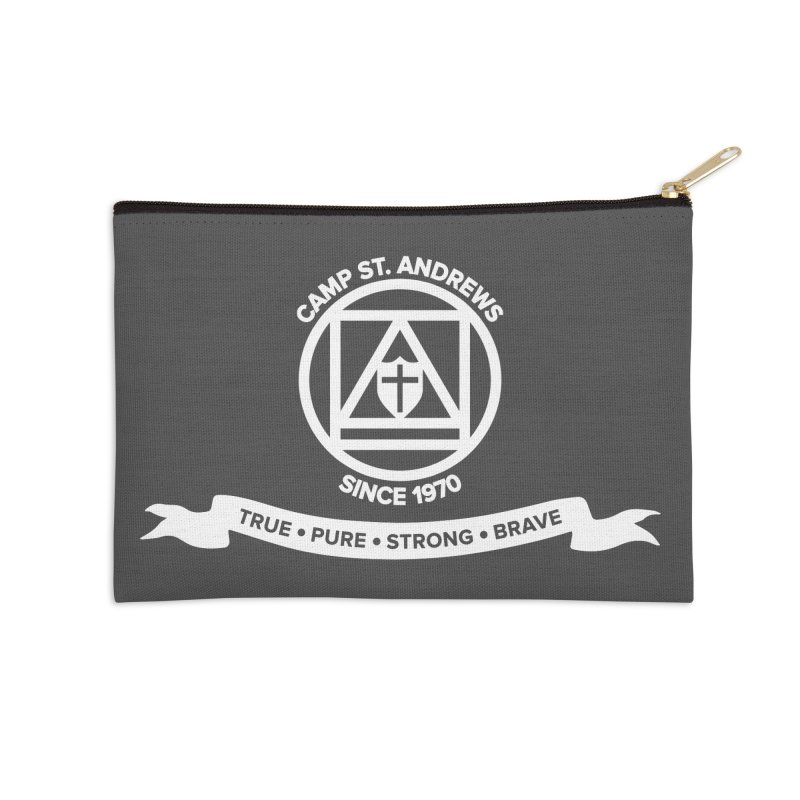 CSA Emblem (white) Accessories Zip Pouch by Camp St. Andrews