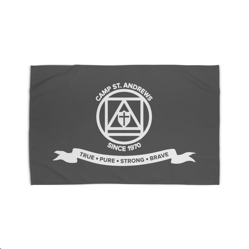CSA Emblem (white) Home Rug by Camp St. Andrews