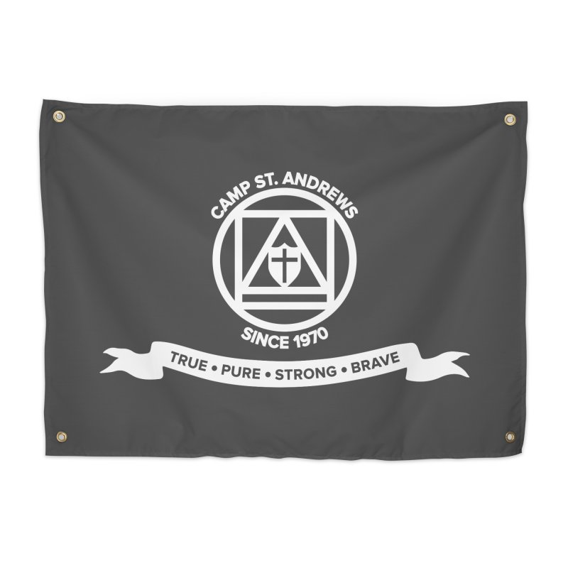 CSA Emblem (white) Home Tapestry by Camp St. Andrews