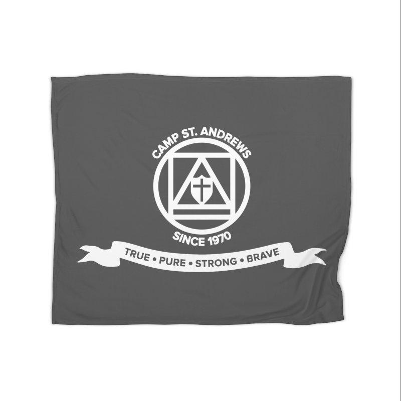 CSA Emblem (white) Home Fleece Blanket Blanket by Camp St. Andrews