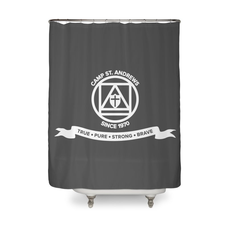 CSA Emblem (white) Home Shower Curtain by Camp St. Andrews