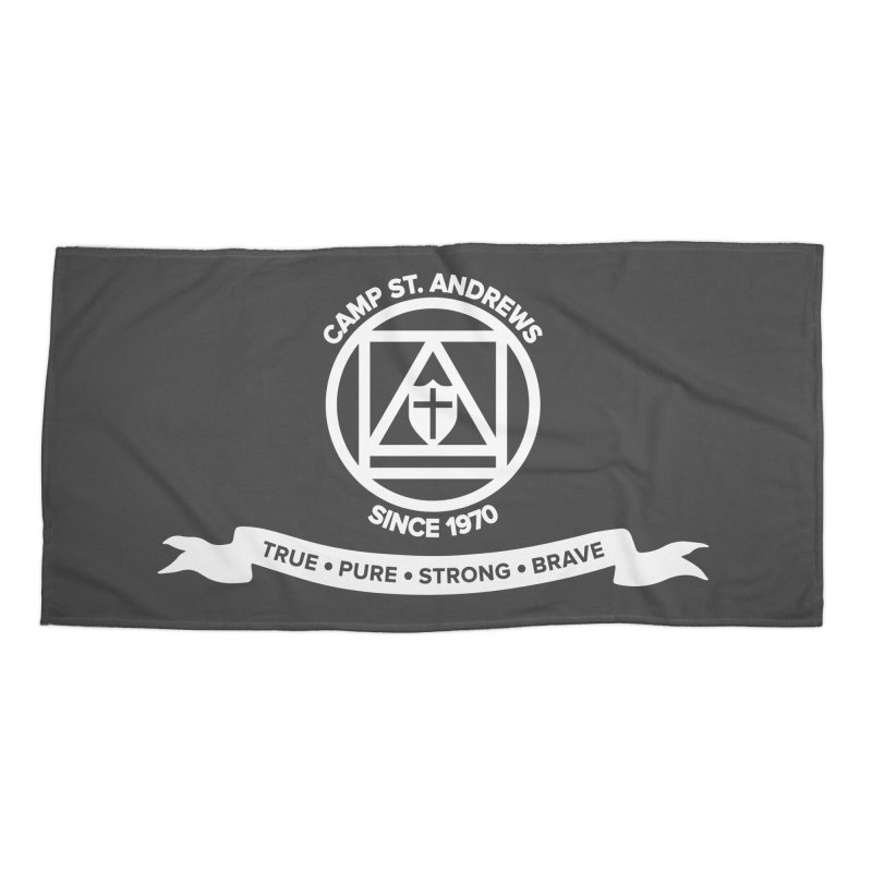 CSA Emblem (white) Accessories Beach Towel by Camp St. Andrews