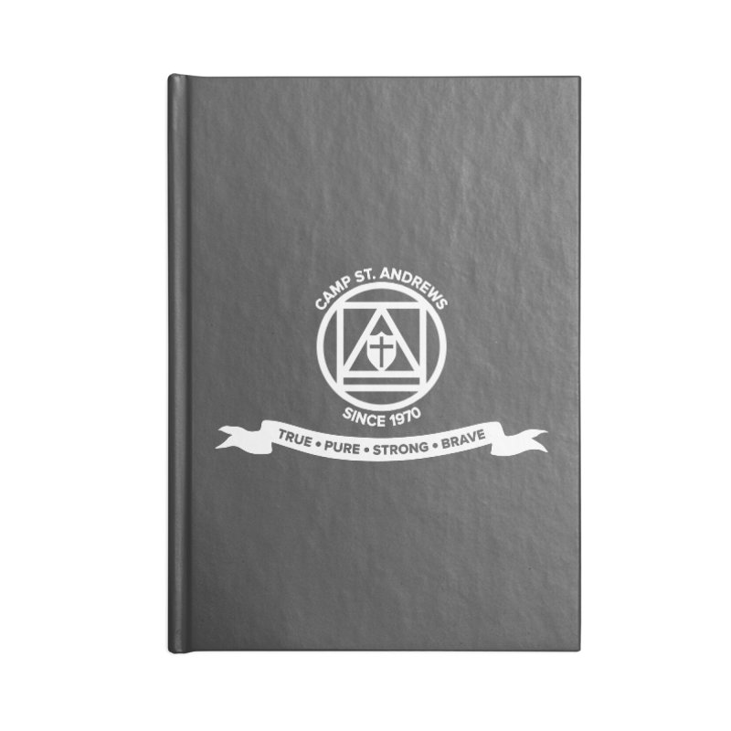 CSA Emblem (white) Accessories Lined Journal Notebook by Camp St. Andrews
