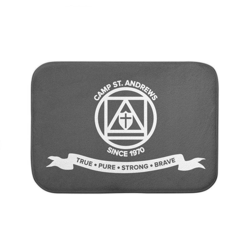 CSA Emblem (white) Home Bath Mat by Camp St. Andrews