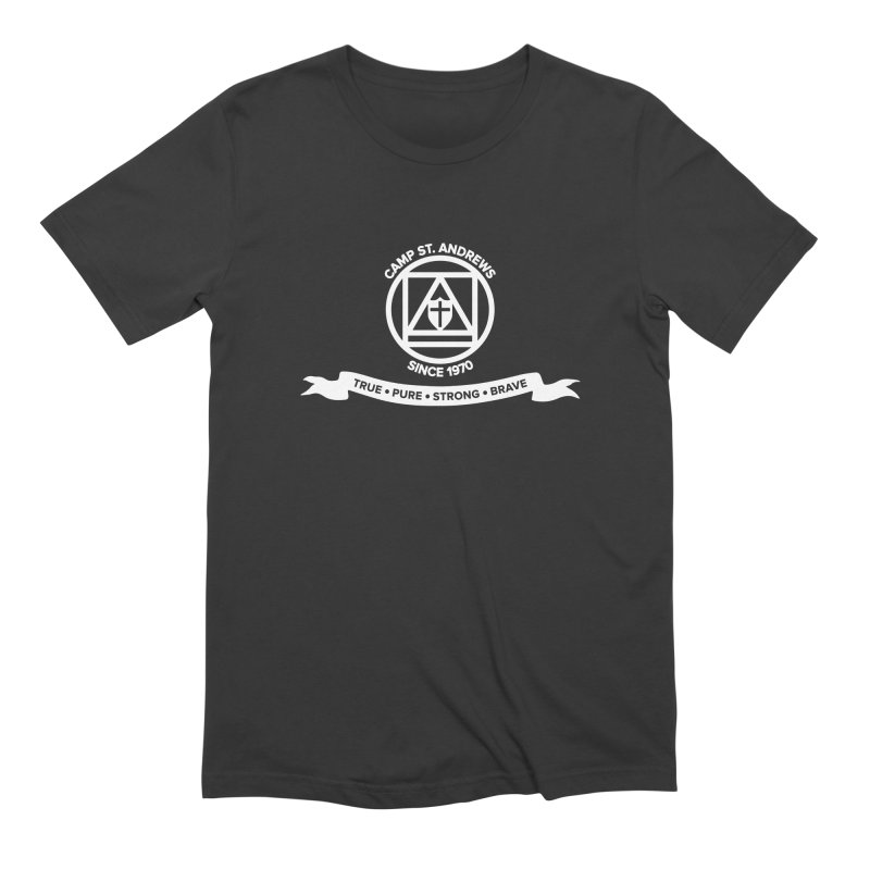 CSA Emblem (white) Men's Extra Soft T-Shirt by Camp St. Andrews