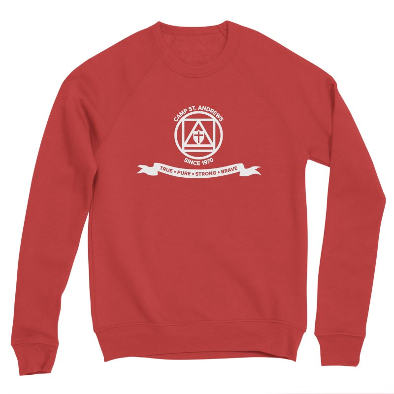 CSA Emblem (white) Men's Sponge Fleece Sweatshirt by Camp St. Andrews