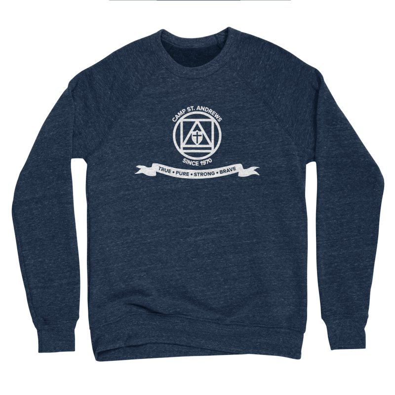 CSA Emblem (white) Men's Sponge Fleece Sweatshirt by Camp St. Andrews