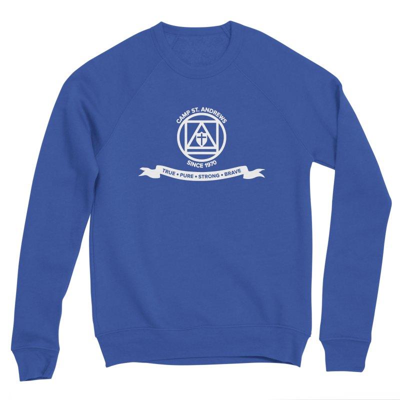 CSA Emblem (white) Men's Sweatshirt by Camp St. Andrews