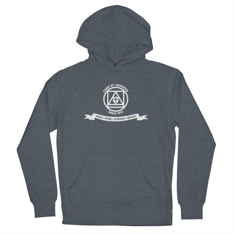 CSA Emblem (white) Women's French Terry Pullover Hoody by Camp St. Andrews