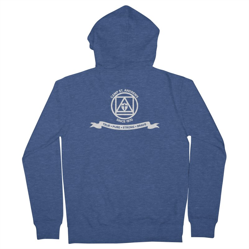 CSA Emblem (white) Women's French Terry Zip-Up Hoody by Camp St. Andrews