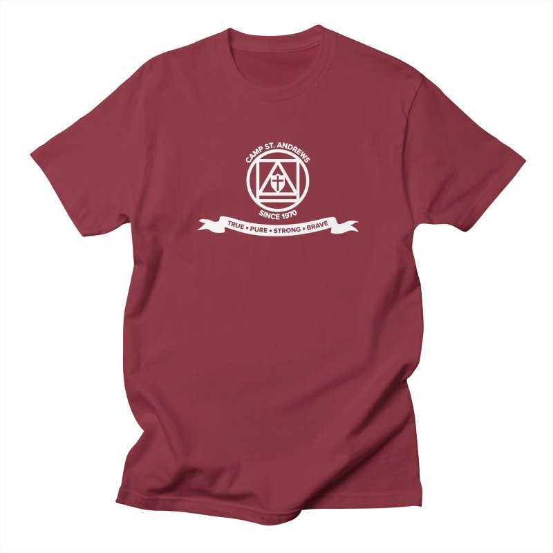 CSA Emblem (white) Women's Regular Unisex T-Shirt by Camp St. Andrews