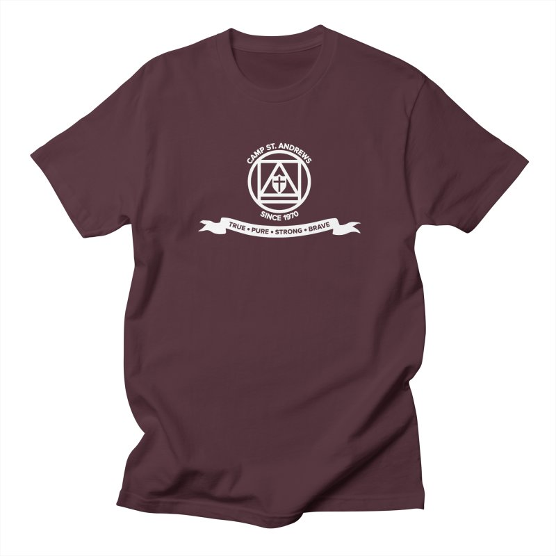 CSA Emblem (white) Men's Regular T-Shirt by Camp St. Andrews