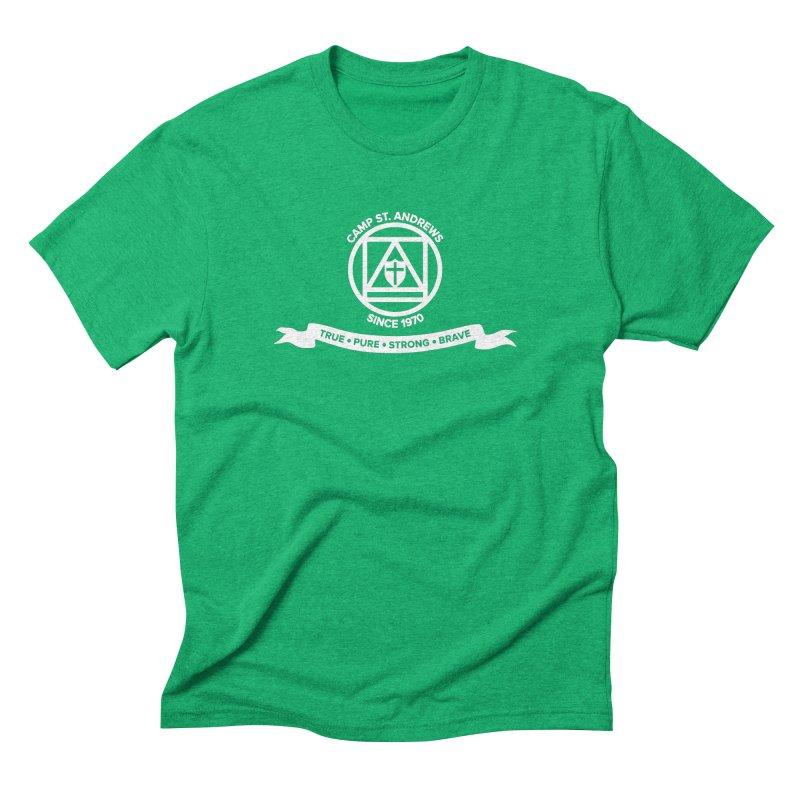 CSA Emblem (white) Men's Triblend T-Shirt by Camp St. Andrews