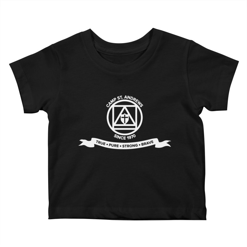 CSA Emblem (white) Kids Baby T-Shirt by Camp St. Andrews