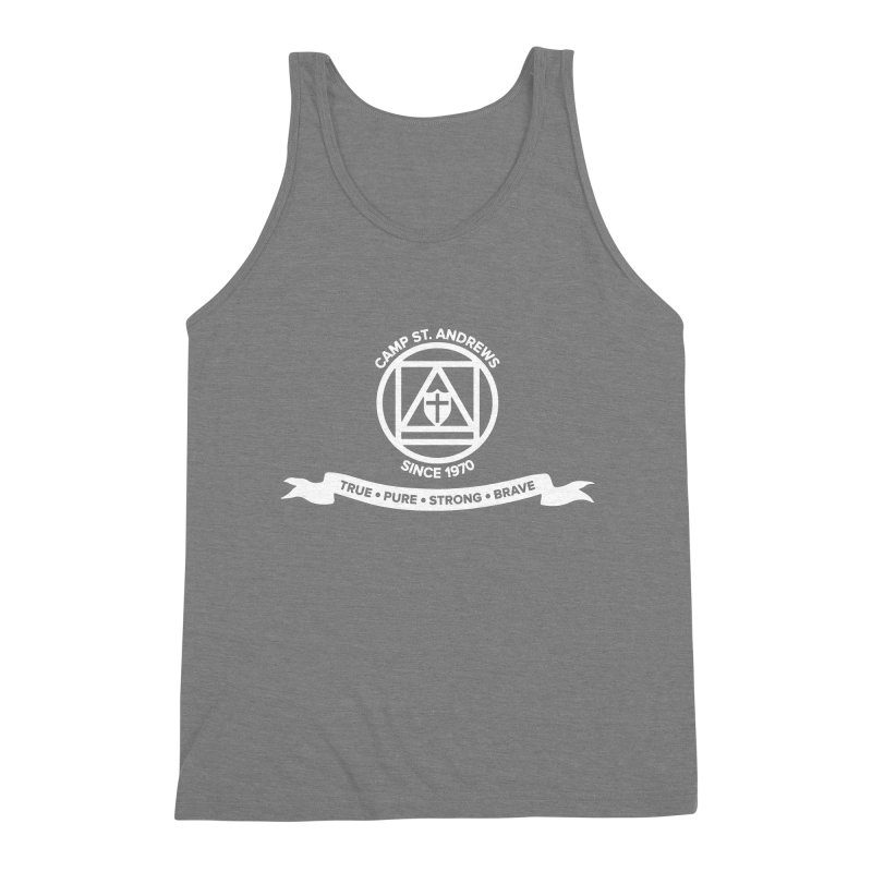 CSA Emblem (white) Men's Triblend Tank by Camp St. Andrews