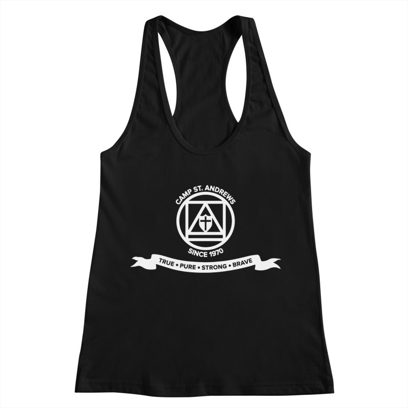 CSA Emblem (white) Women's Racerback Tank by Camp St. Andrews
