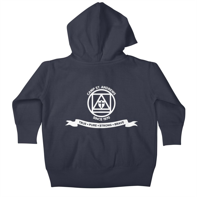 CSA Emblem (white) Kids Baby Zip-Up Hoody by Camp St. Andrews