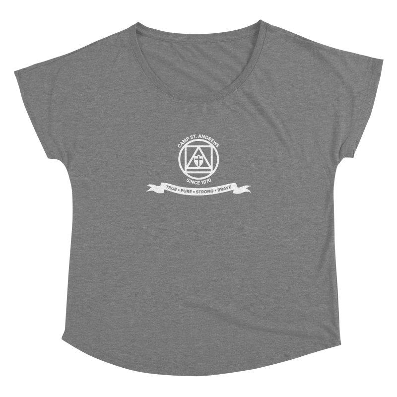 CSA Emblem (white) Women's Dolman Scoop Neck by Camp St. Andrews