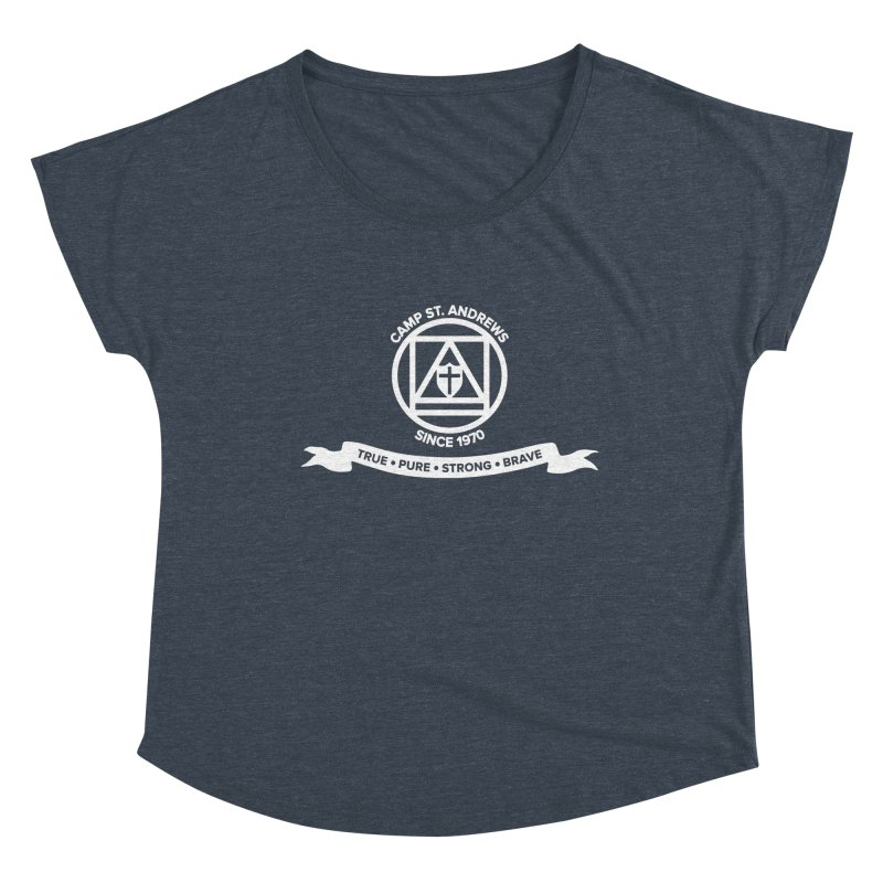 CSA Emblem (white) Women's Dolman Scoop Neck by Camp St. Andrews
