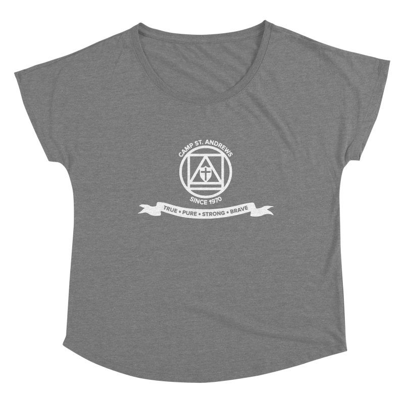 CSA Emblem (white) Women's Scoop Neck by Camp St. Andrews
