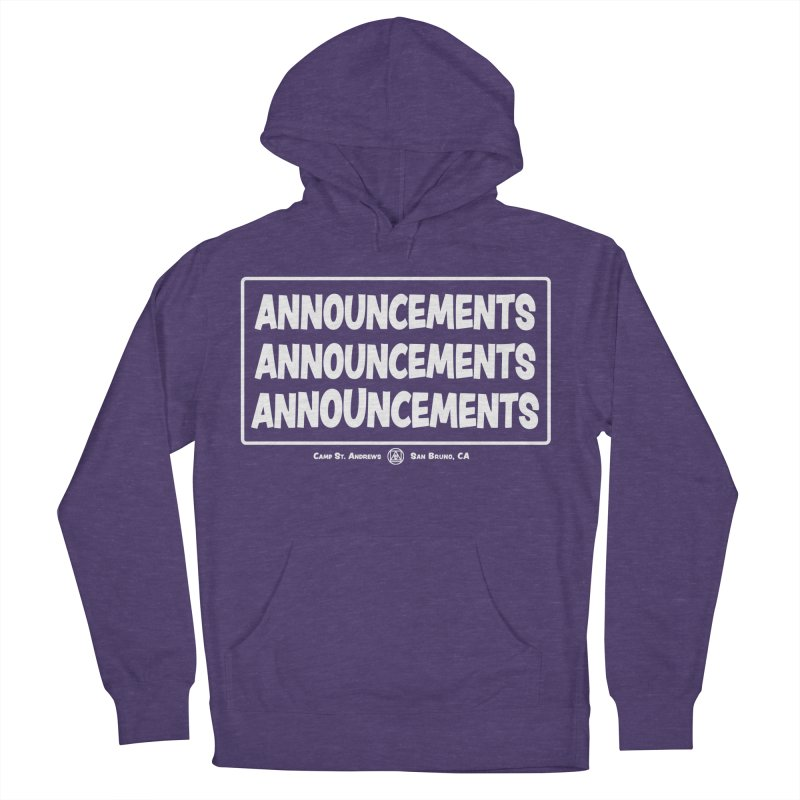 Announcements (white) Men's Pullover Hoody by Camp St. Andrews
