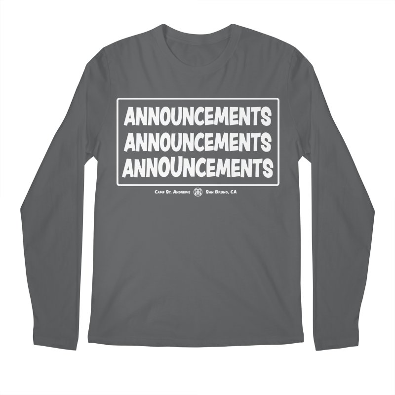 Announcements (white) Men's Longsleeve T-Shirt by Camp St. Andrews
