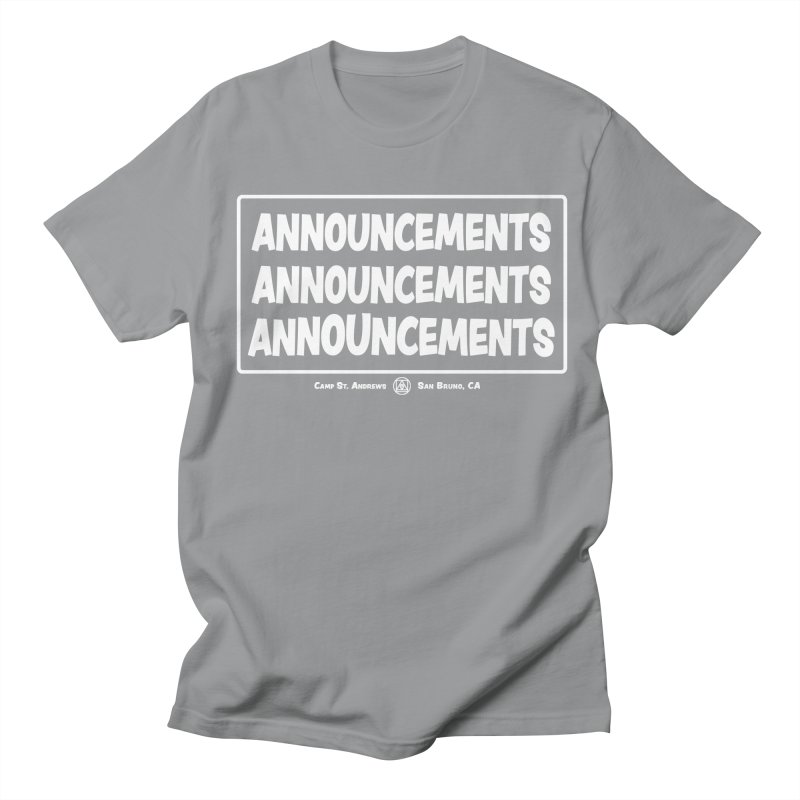 Announcements (white) Women's Unisex T-Shirt by Camp St. Andrews