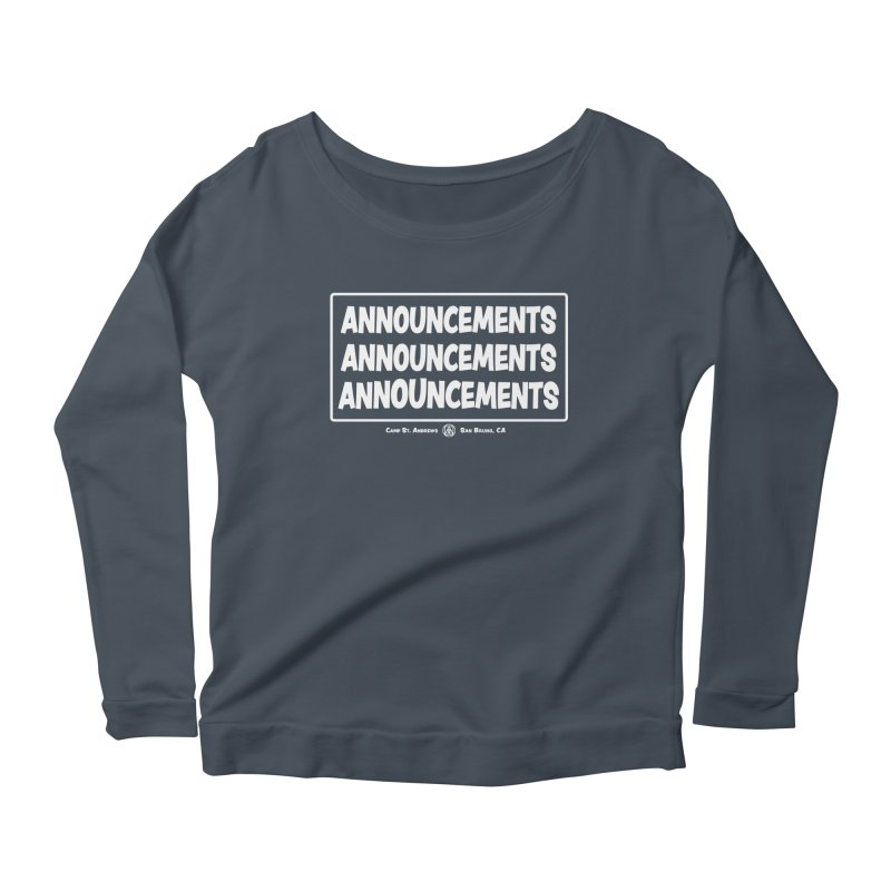 Announcements (white) Women's Scoop Neck Longsleeve T-Shirt by Camp St. Andrews