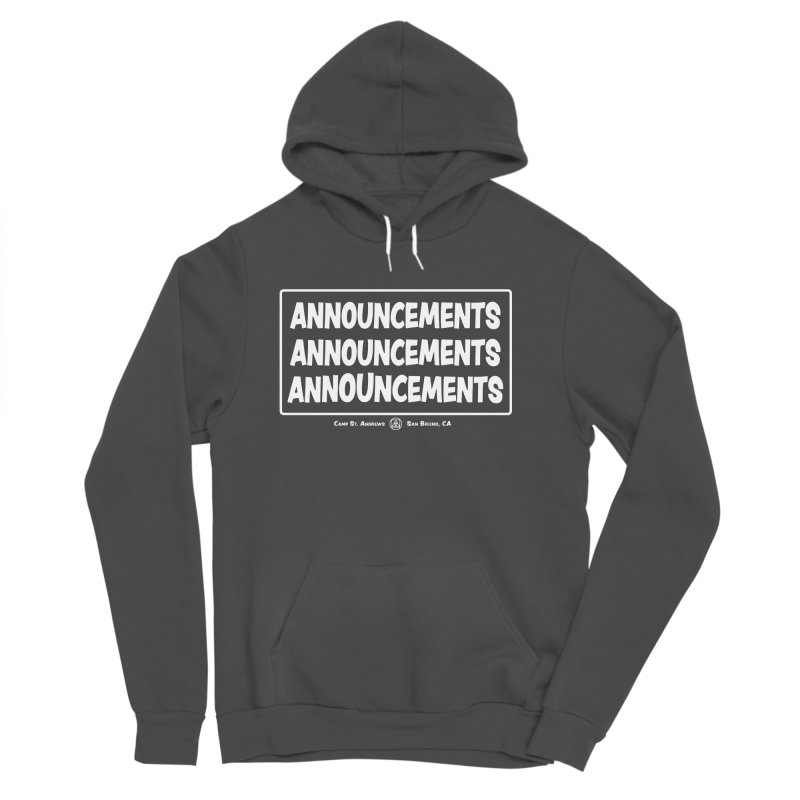Announcements (white) Women's Sponge Fleece Pullover Hoody by Camp St. Andrews