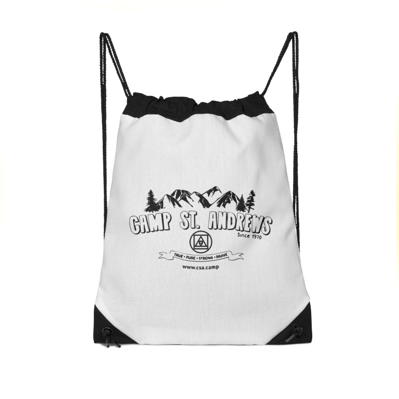 Camp St. Andrews Mountains Accessories Drawstring Bag Bag by Camp St. Andrews